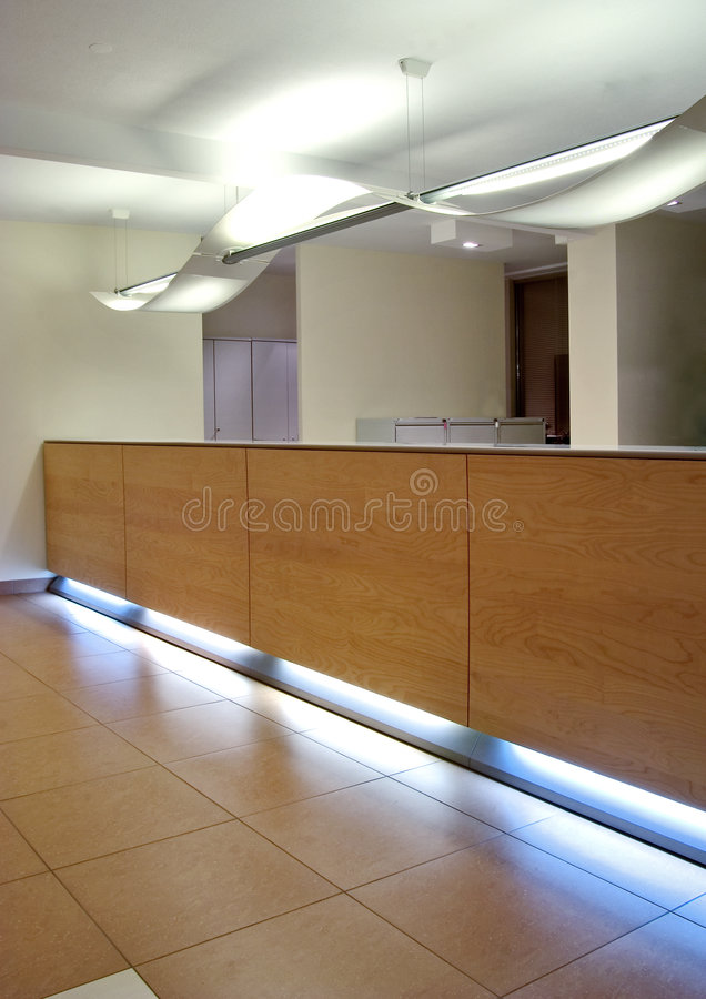 Reception desk royalty free stock photos