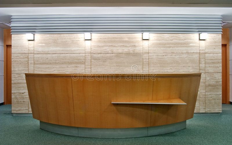 Download Reception desk stock photo. Image of front, office, furnishings - 3558136