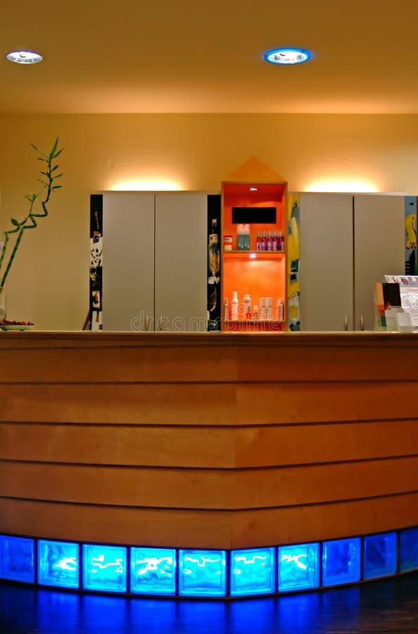 Reception Desk. Hair Dresser's Reception Desk royalty free stock photo