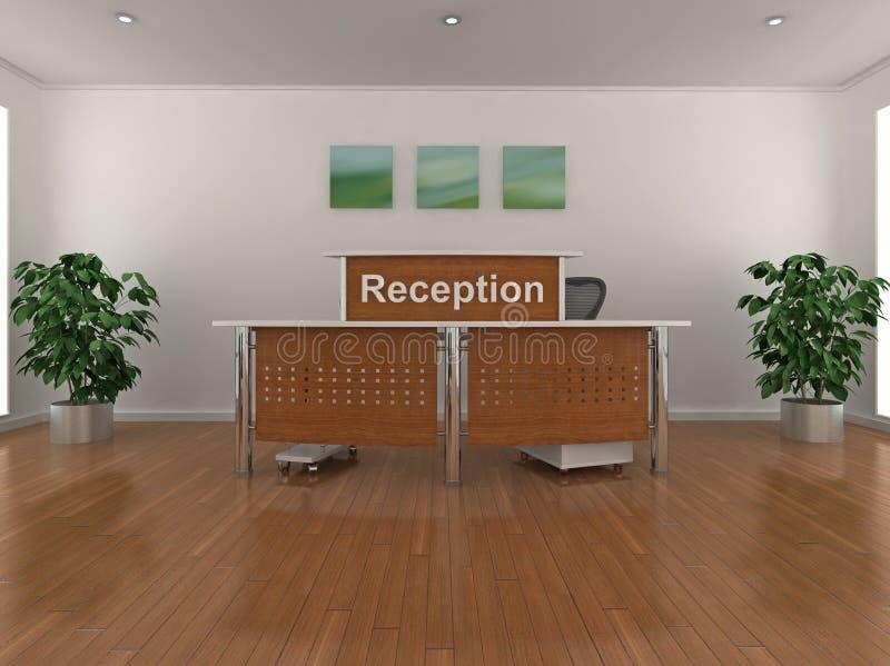 Reception desk. High quality 3d illustration of a reception area stock illustration