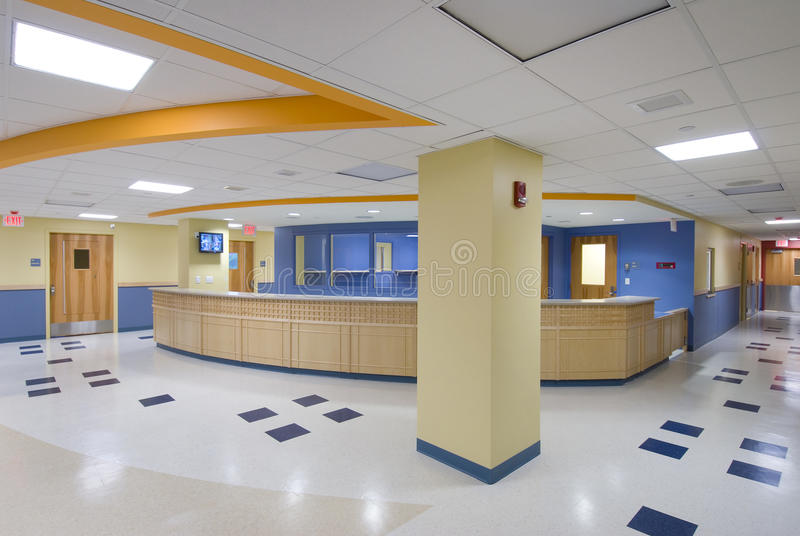 Download Reception desk in foyer stock image. Image of assistance - 23724817