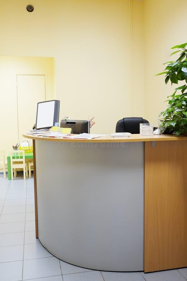 Reception desk royalty free stock photos