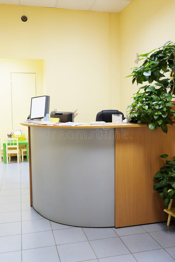 Reception desk stock photography