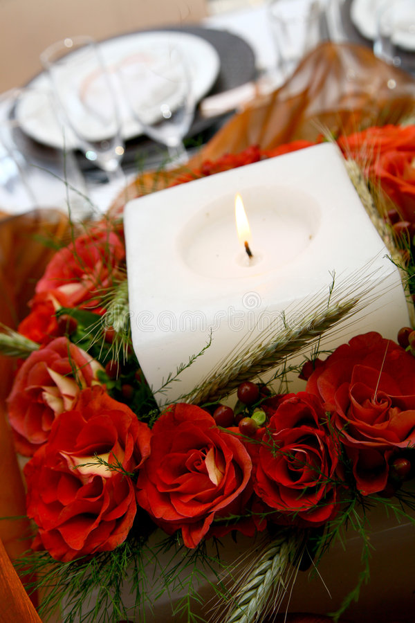 Download Reception Flowers stock image. Image of plates, rose, burning - 1424351