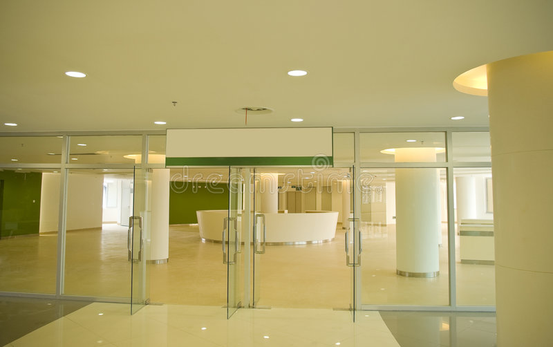 Reception hall. The modernization of the reception hall royalty free stock photo