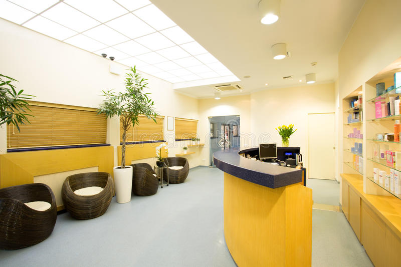 Reception and hall stock image