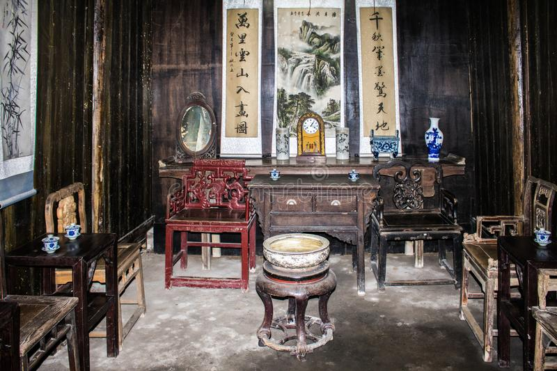 Reception Hall from Quing Dynasty royalty free stock image