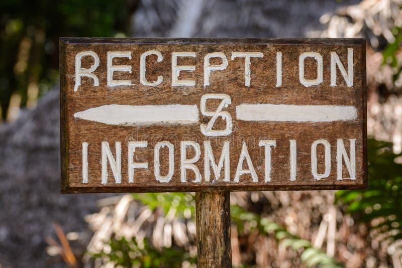 Reception&information foto de stock royalty free