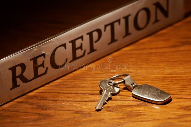 Reception & key stock photography