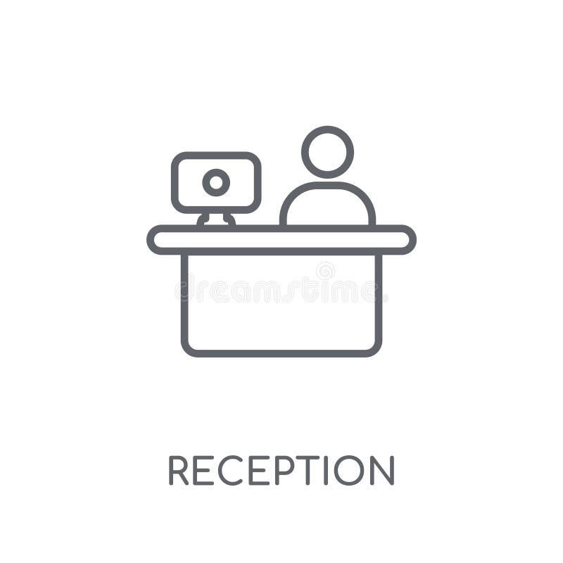 Reception linear icon. Modern outline Reception logo concept on vector illustration