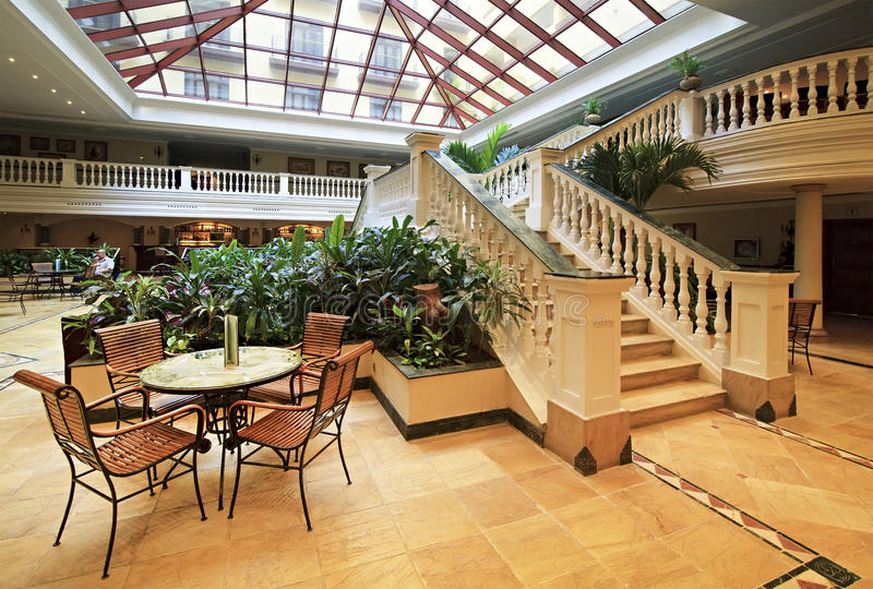 Reception of NH Parque Central. royalty free stock images