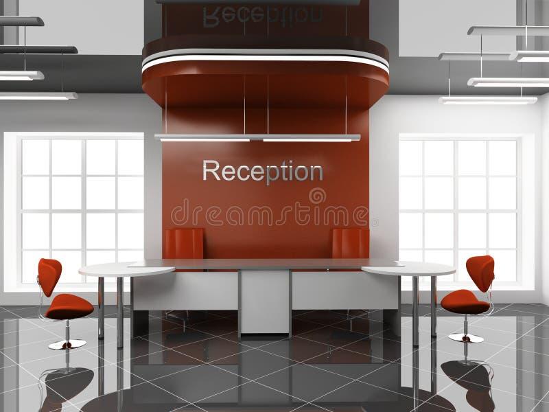 Reception at office vector illustration