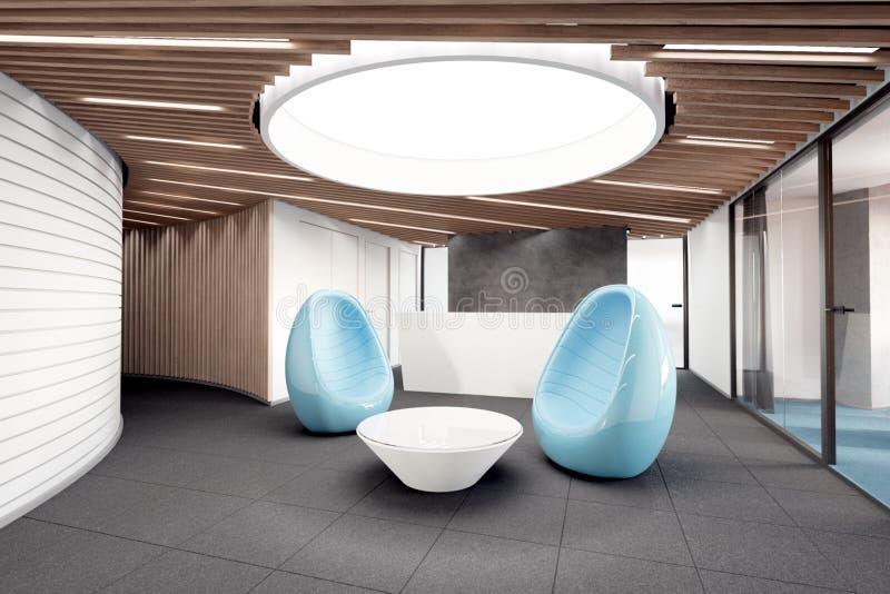 Reception, reception area. 3d illustration royalty free illustration