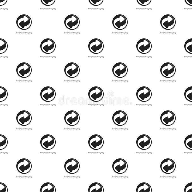 Reception and recycling pattern seamless vector royalty free illustration