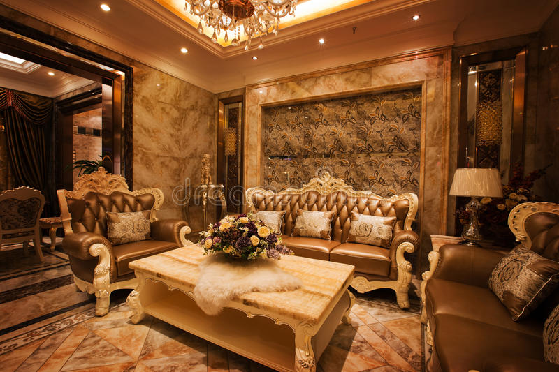 The reception room. Modern family or hotel decoration, pay attention to the design of the reception room stock photography