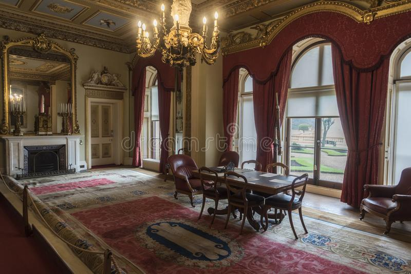 Reception room in Osborne House Isle of Wight. Osborne House is a former royal residence in East Cowes, Isle of Wight, United Kingdom. The house was built stock photo