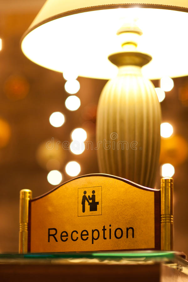 Free Reception Sign Royalty Free Stock Images - 17789119