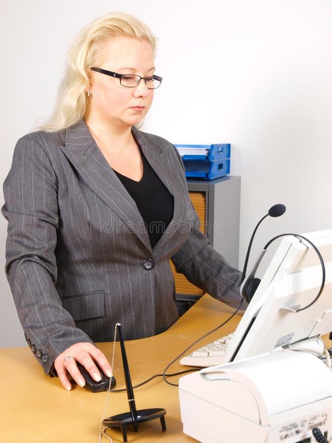 Receptionist fotografia stock libera da diritti