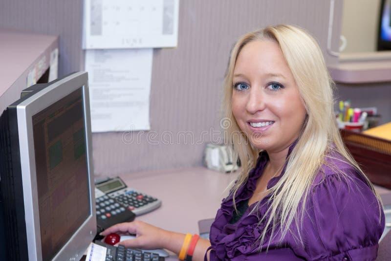 Receptionist immagini stock
