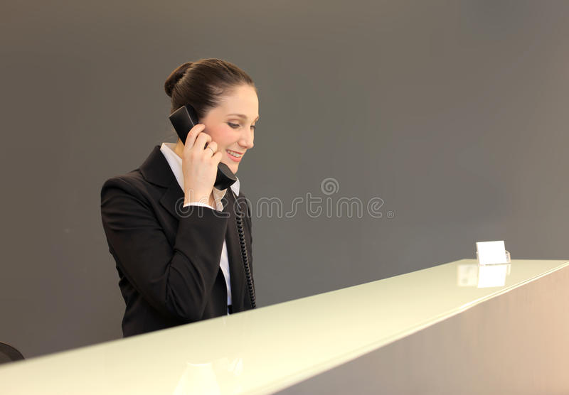 Download Receptionist stock image. Image of interior, corporate - 14142351