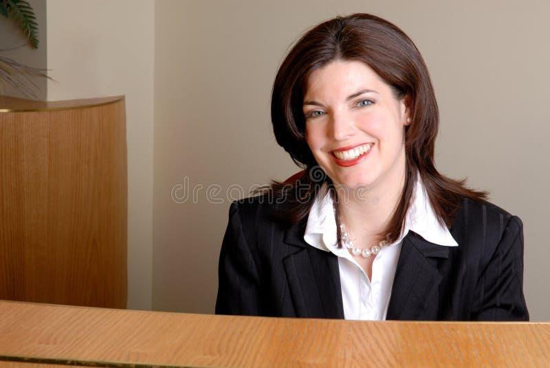 receptionist arkivfoto