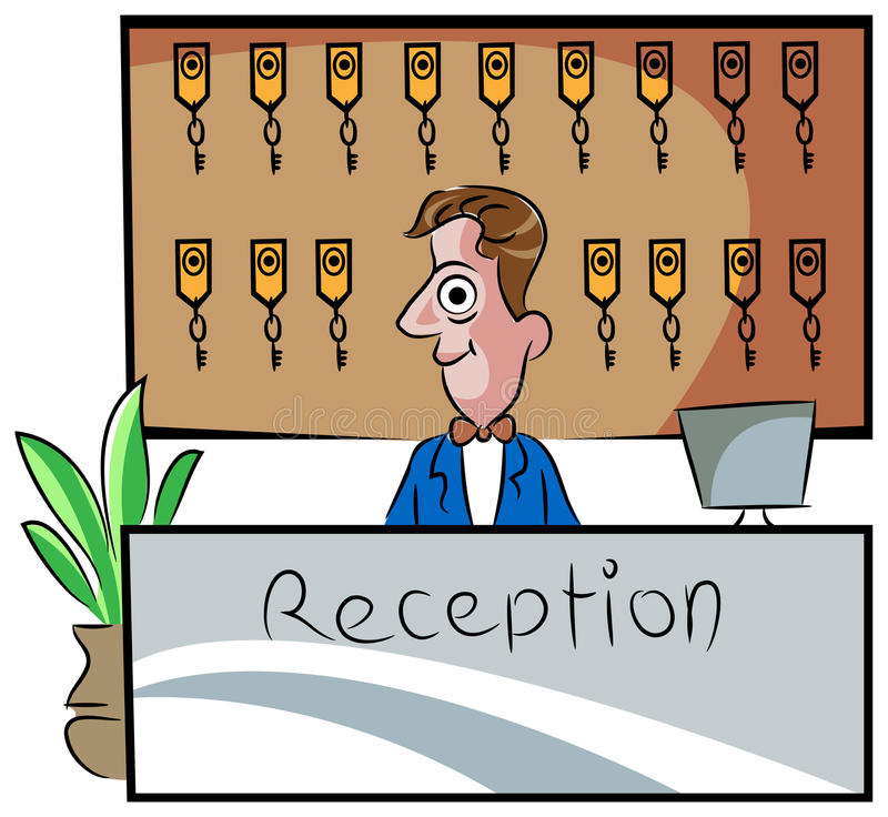 receptionist ilustração royalty free