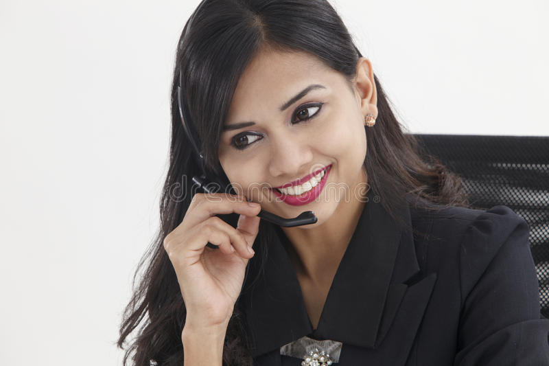 receptionist стоковое фото rf