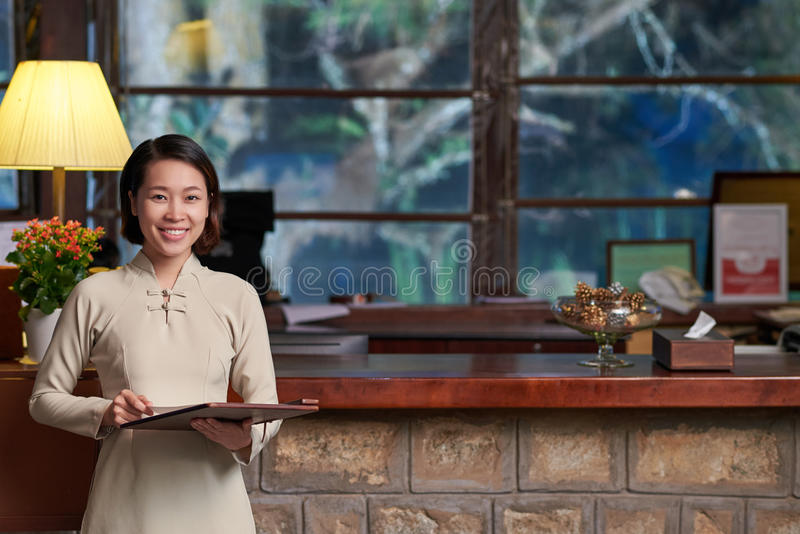 receptionist стоковое изображение
