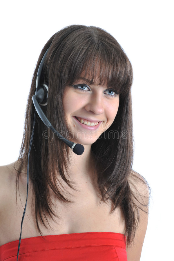Receptionist royalty free stock photo