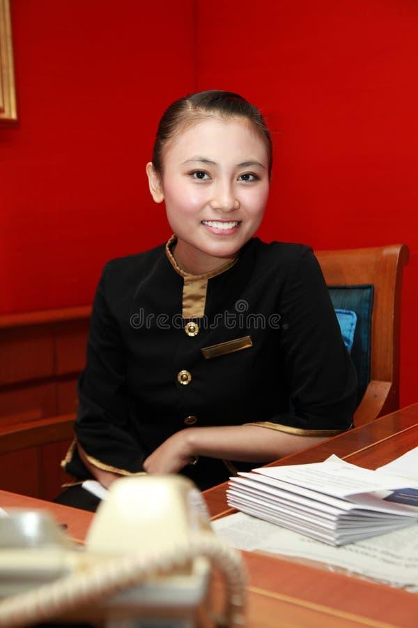 Receptionist Or Secretary Royalty Free Stock Photo