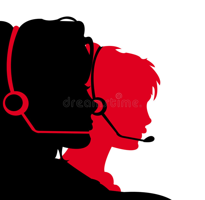 receptionists stock illustrationer