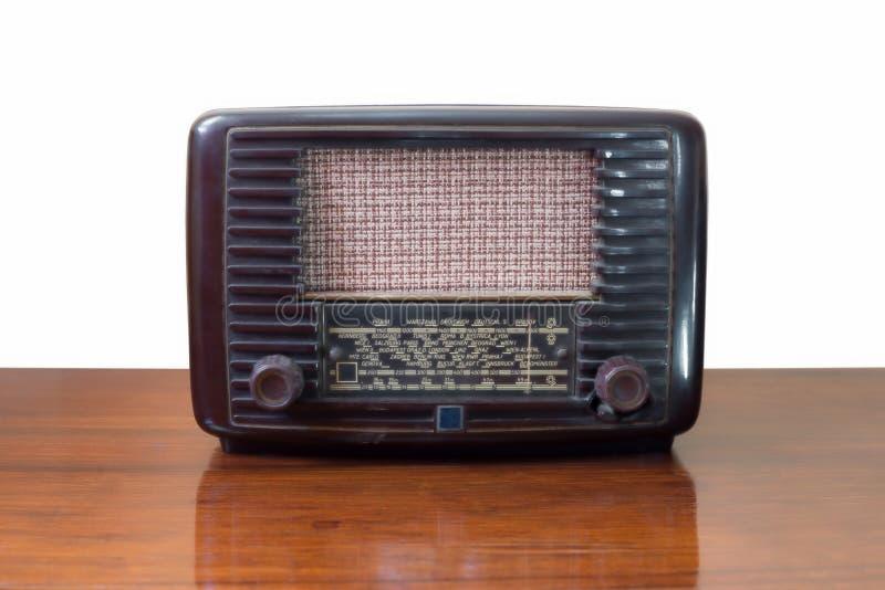 Receptor de rádio do tubo do vintage imagens de stock