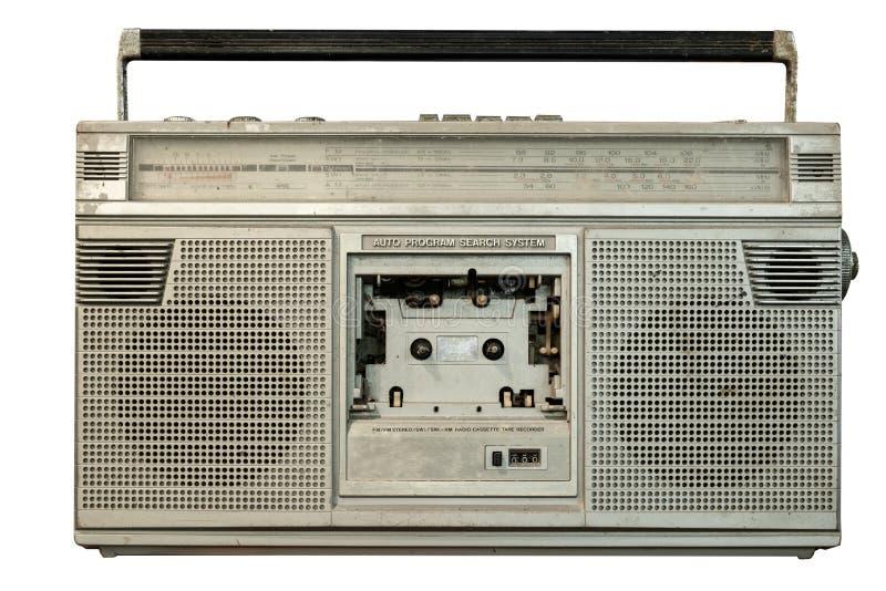 Receptor de r?dio do vintage e jogador de gravador de cassetes fotos de stock royalty free