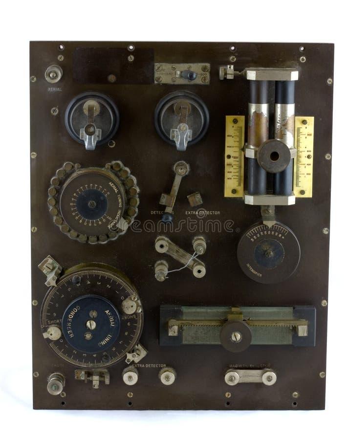 Receptor de rádio profissional de cristal antigo fotos de stock