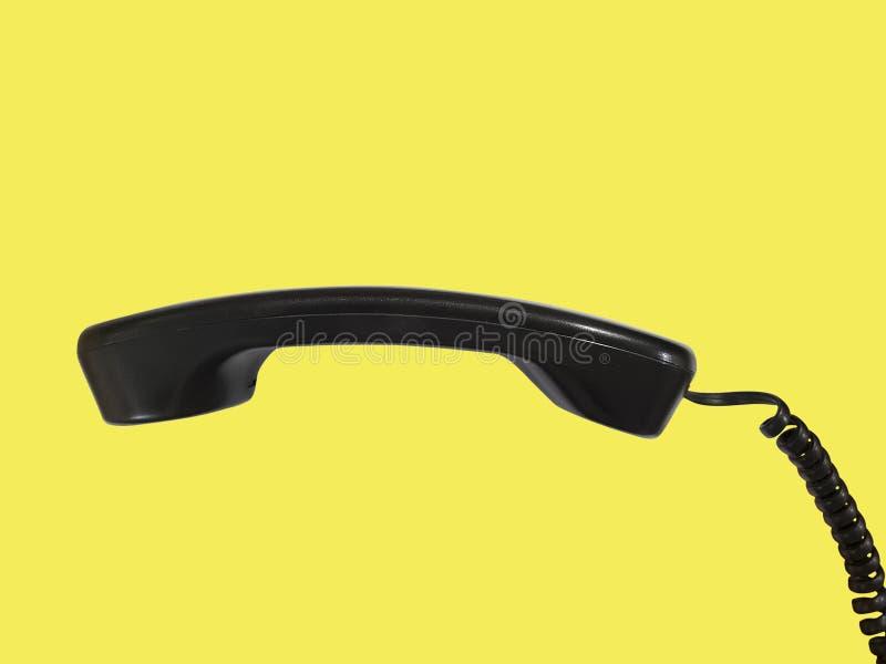 Receptor de teléfono negro foto de archivo libre de regalías
