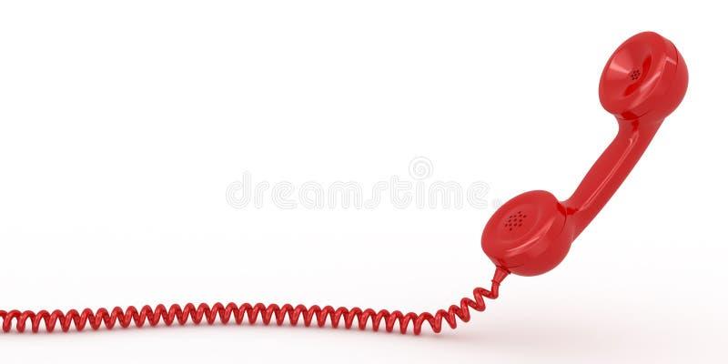 Receptor do telefone no fundo isolado branco ilustração stock