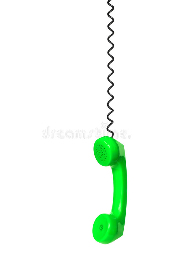 Receptor y cable de teléfono imagenes de archivo