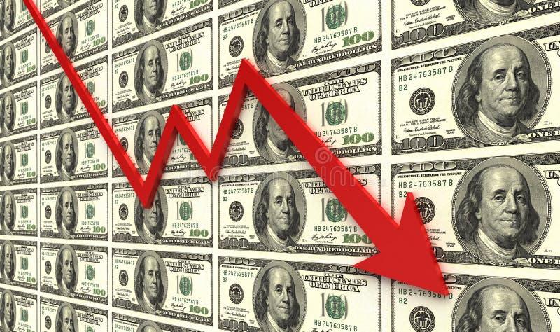 Recesión financiera stock de ilustración