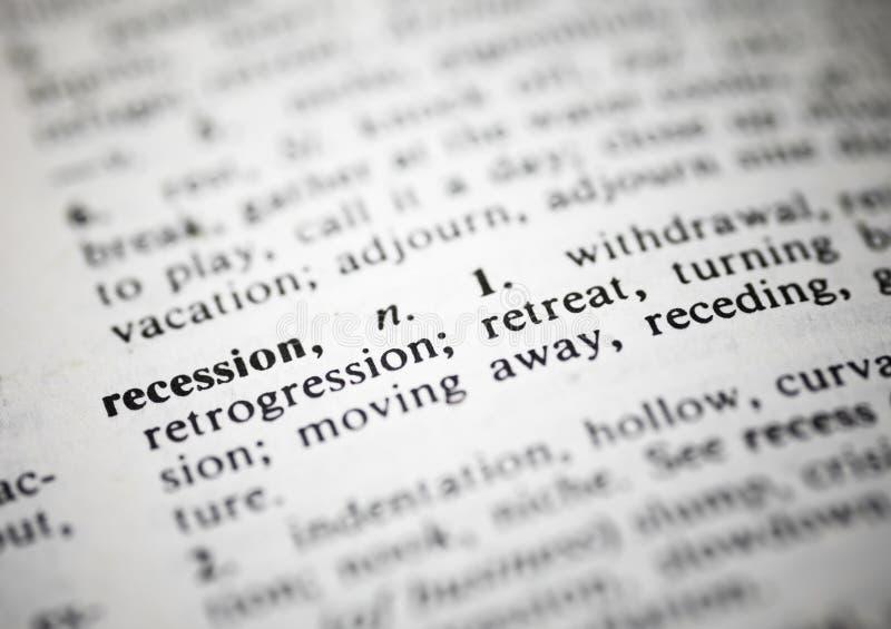 recesja zdjęcia stock
