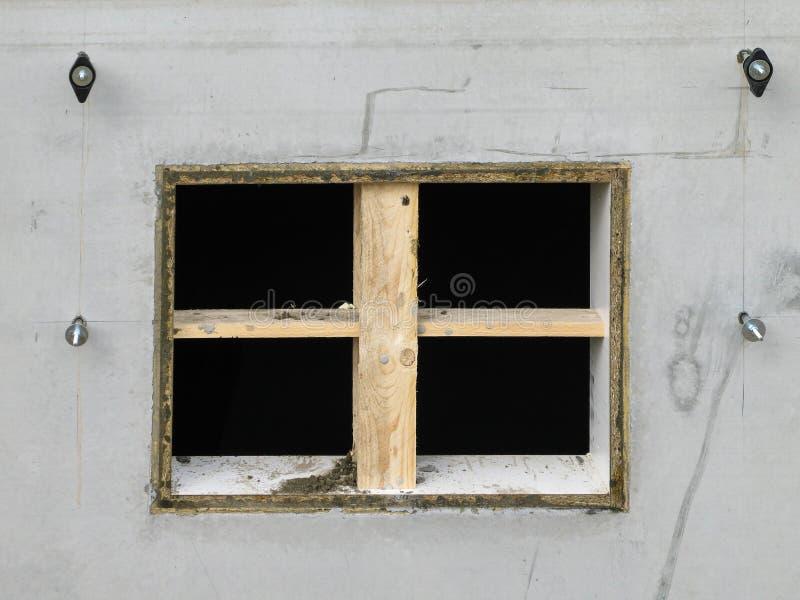 Recesja dla lochu okno zdjęcie royalty free