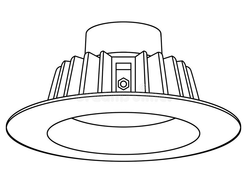 Recessed Downlight LED royalty free stock images