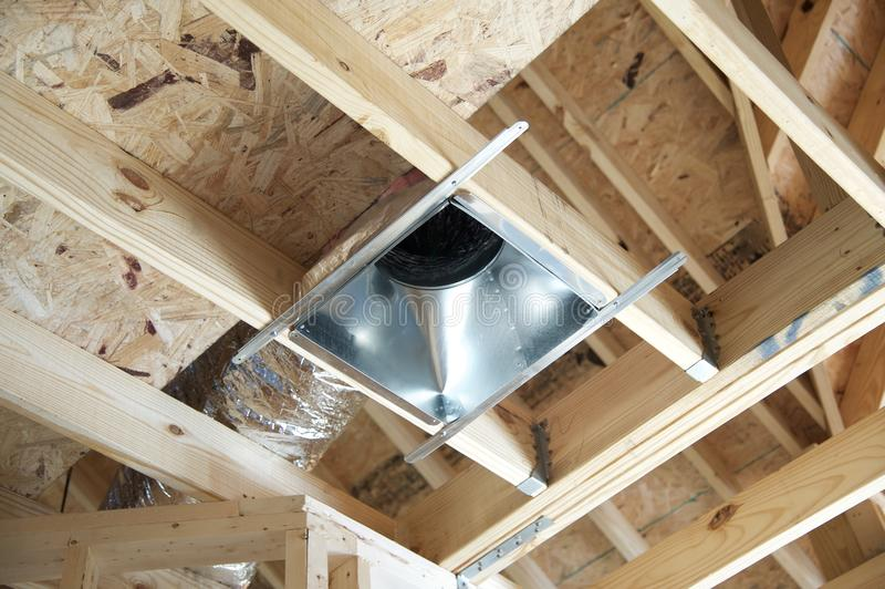 Recessed lighting can. royalty free stock photos