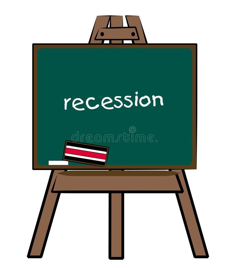 Recessie stock illustratie