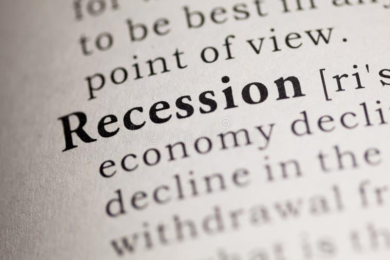 recession fotografia de stock