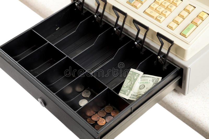 Recession - Empty Cash Register Stock Image