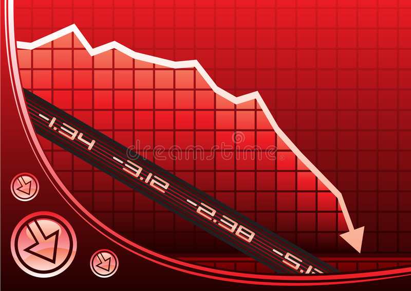 Recession on graph royalty free illustration