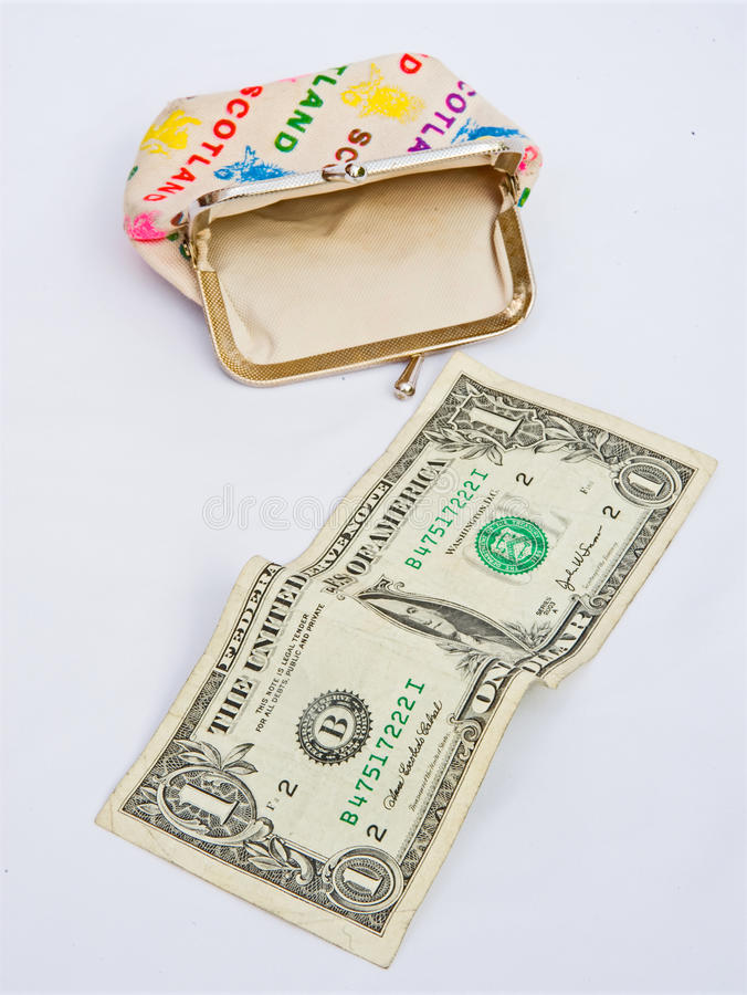 Download Recession; my last Dollar. stock photo. Image of bankruptcy - 11580086