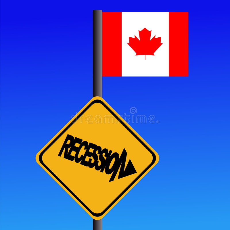 Download Recession Sign Canadian Flag Stock Photography - Image: 6711842