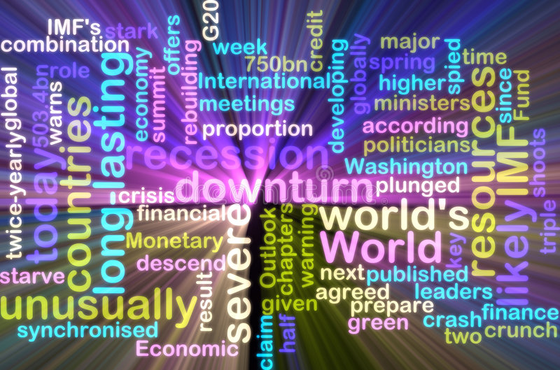 Download Recession Wordcloud Glowing Stock Illustration - Image: 9317206