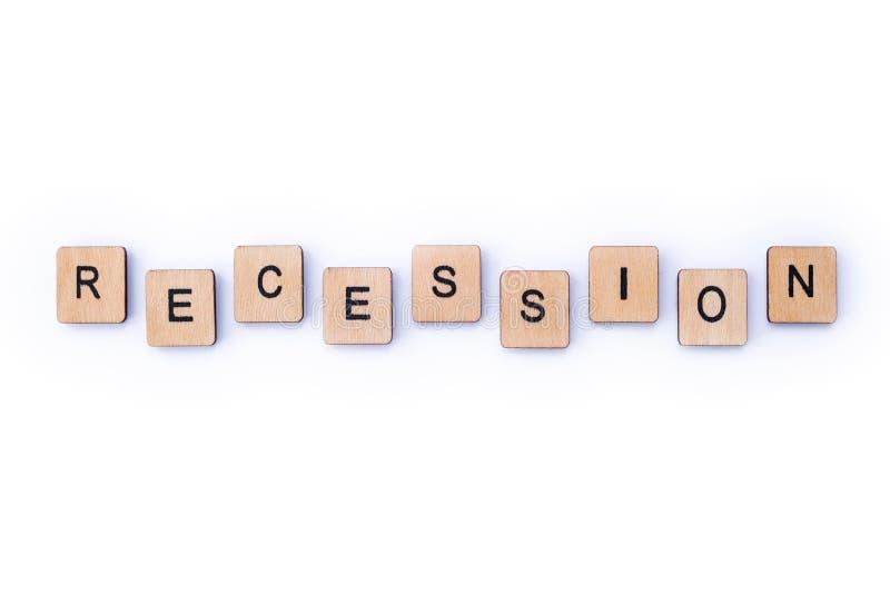 recessione immagini stock libere da diritti